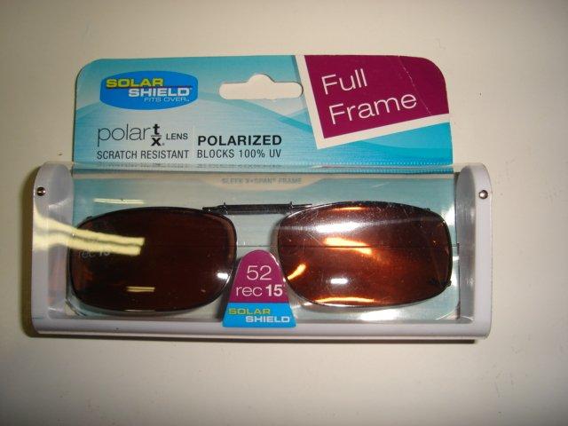 Solar Shield  52 Rec 15 FF Polarized DL Clip Ons sunglasses NEW