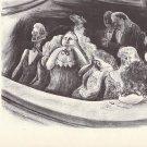 Vintage 1939 Adolf Dehn Print / Book Plate Beethoven