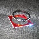 Single Row RED Square Bangle Bracelet