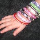 Little Girl 3 Row BRIGHT PINK Bangle Bracelet