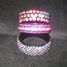 Adult 7 Row PURPLE Crystal Bangle Bracelet
