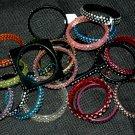 Adult 3 Row BROWN Crystal Bangle Bracelets