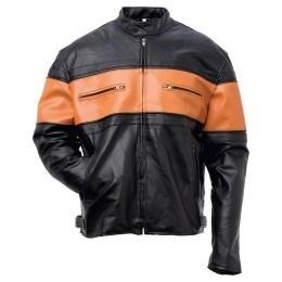 Men's Hand-Sewn Pebble Grain Genuine Leather Jacket (Large)