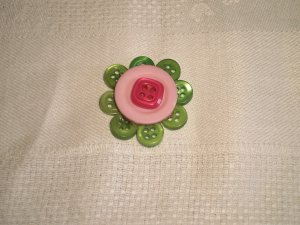 FLOWER LAPEL BUTTON PIN