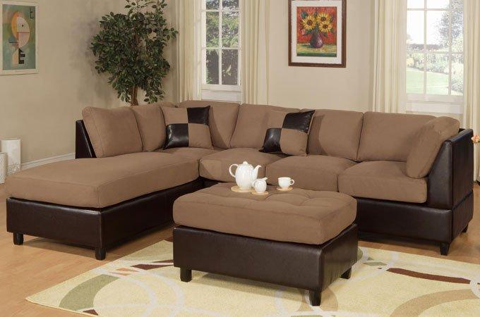 Saddle Sectional Sofa Set