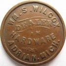 MI005F-2a – William S. Wilcox, Adrian, Michigan, Civil War Token