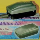 Million Air Ma - 600 Double Outlet Air Pump With Variable Flow Control Knob