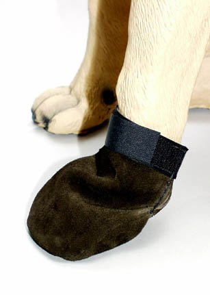 Mitten Style Suede Leather Dog Boots