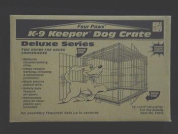K - 9 Keeper Deluxe Crate Dbl Door 19 X 13 X 16