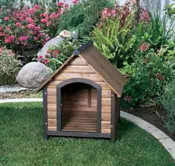Prec Large Country Lodge Dog House 32x40x34
