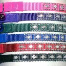 3/8 Jeweled Nylon Cat Collar/Safety Stretch