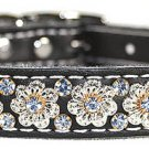 Signature Leather Fancy Filigree Crystal Collar