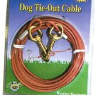 Vinyl coated tie-out cables