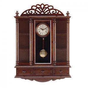 Pendulum Clock And Curio Cabinet 33047