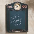 Hotel Du Monde Wall Clock And Chalkboard 35164