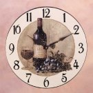 Wine And Grapes Wall Clock 34270