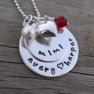 Hand Stamped Layered Grandmother Necklace - Sterling Silver