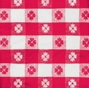 Red Check Red & White Beverage Napkins 36ct.