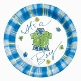 """Its A Boy Baby Shower 9"""" Paper Luncheon Plates 25ct."""