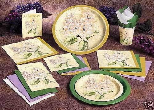 "Lilac Bough 10""  Floral Paper Dinner Plate 8ct."
