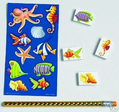 Sea Life Stickers Stationary Set Birthday Favours