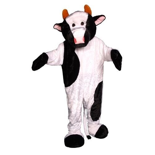 Plush Cow Mascot Halloween Costume Size Adult NEW