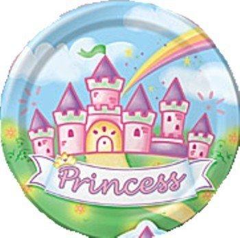 "Princess Celebration Happy Birthday 9"" Plates 8ct."