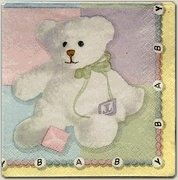 Plush Bear Baby Shower Lunch Paper Napkin 16ct.