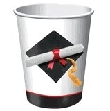 Graduation Day Party 9oz. Paper Hot / Cold Cups 8ct.