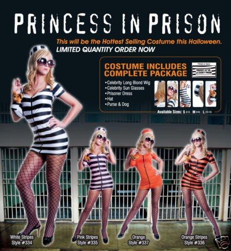 Adult Sexy Prison Costume - Orange - Size Medium
