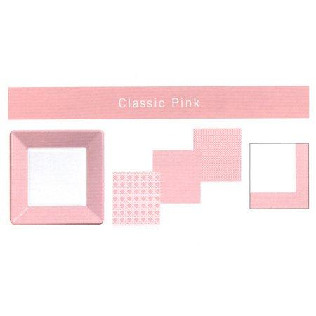 Classic Pink Cane Print Beverage Napkins 24ct.