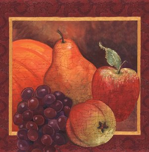 "Harvest Fruits Autumn 54"" x 108"" Plastic Tablecloths"