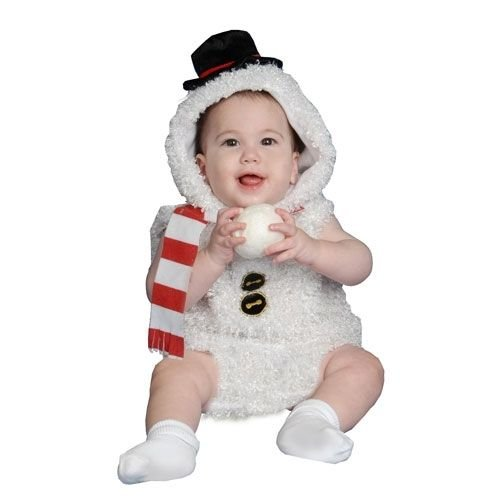 Baby Snowman Plush  Halloween Costume Infant 0-6 Months