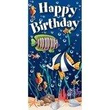 Sea Life Under The Sea Happy Birthday Giant Banner