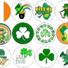 Lot Set 12 ~ Luck of the IRISH ~ Pot of Gold Shamrock Pinback Buttons