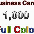 1000 Custom Color Business Cards - Glossy - Free Design
