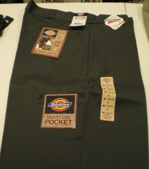 Dickies Men's Shorts size: 38 NEW w/ Tags Char. Gray