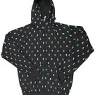 C1RCA Skull Repeat Men's Hooded Zip Sweatshirt - Large - Black / Cyan