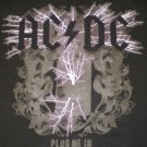 AC DC Plug Me In Blk/Purp T-shirt New!