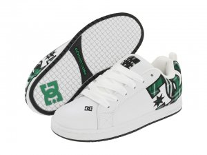 DC Court Graffik SE White/Green plaid New In Box!