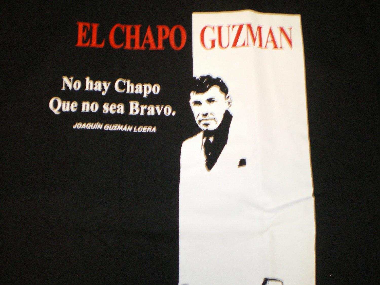 El Chapo Guzman T-shirt Blk/Red New!