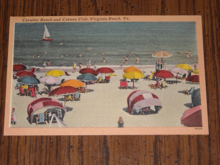 Postcard Virginia Beach Cavalier and Cabana Club PC