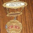 IOOF member medal Crescent Lodge No. 41 odd fellows