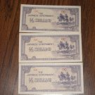 Japanese Half Shilling 3 half notes vintage money