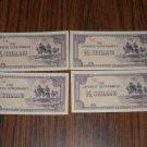 Japanese Shilling 4 half notes vintage money