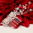Couture Crystal Silver Plated Wedding Side Accent Bridal Hair Comb!