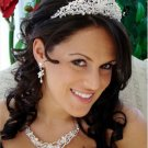 Couture Crystal and Freshwater Pearl Wedding Jewelry and Tiara Set