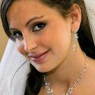 Elegant Crystal Floral Wedding Jewelry Set