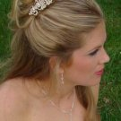 VINTAGE STYLE GOLD CRYSTAL PEARL BRIDAL HAIR COMB