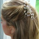 Gold Plated Bridal Floral Pearl Comb for Your Wedding Day